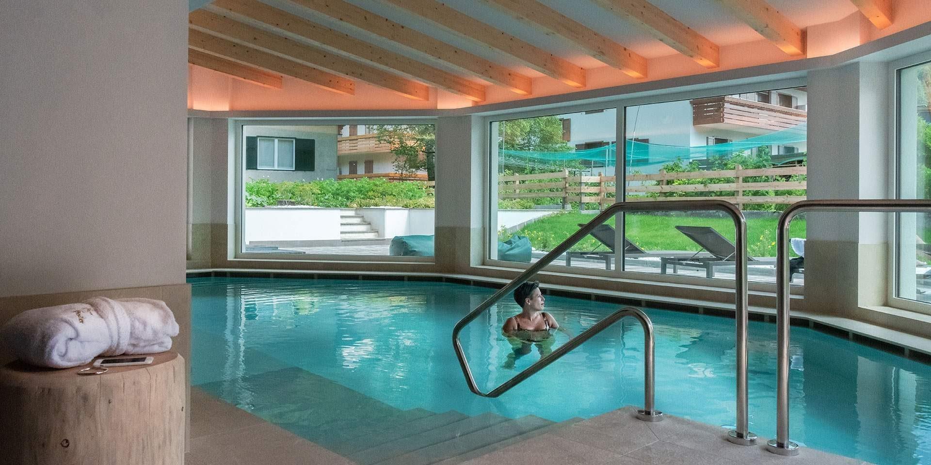 piscina whirlpool hotel el paster pera di fassa